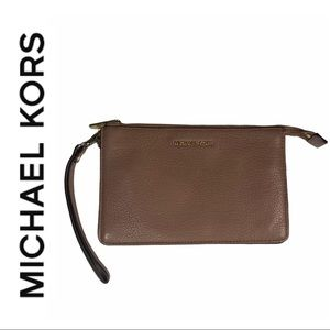 Michael Kors Light Brown Wristlet